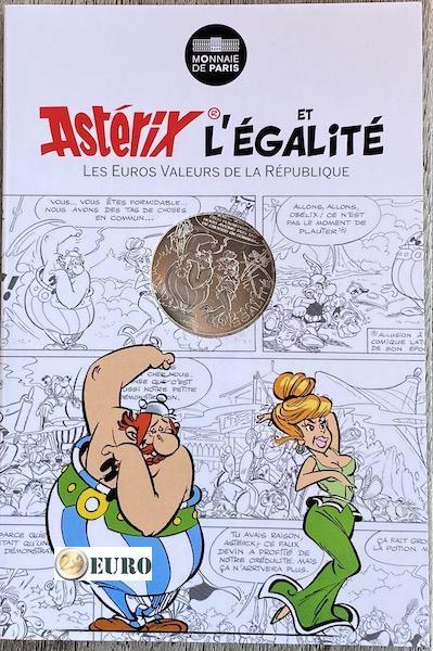 10 euro Frankrijk 2015 - Asterix égalité Voorspellingen van de ziener - in coincard