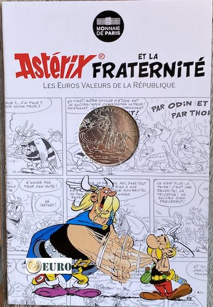 10 euro Frankrijk 2015 - Asterix fraternité en de Noormannen - in coincard