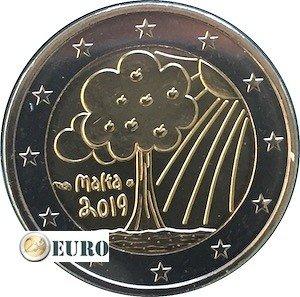 2 euro Malta 2019 - Natuur en milieu UNC muntstempel MdP