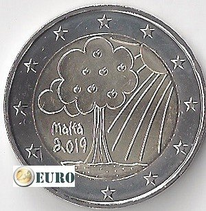 2 euro Malta 2019 - Natuur en milieu UNC