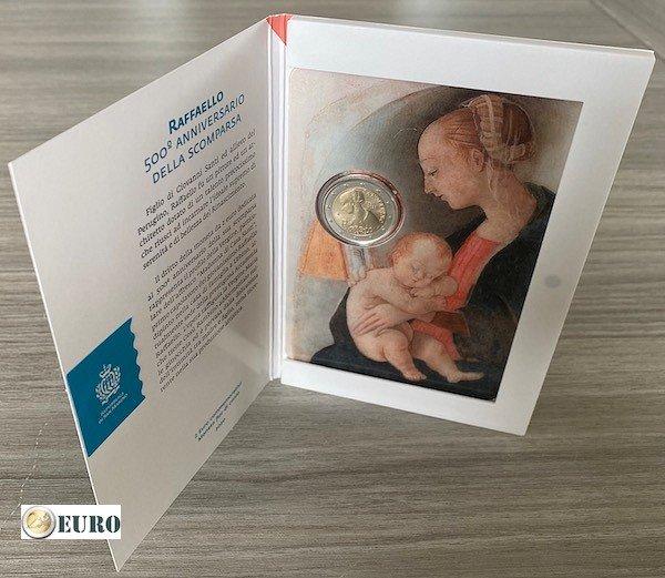 2 euro San Marino 2020 - Raffaello BU FDC