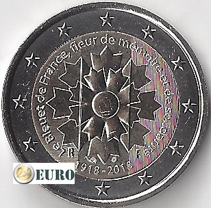 2 euro Frankrijk 2018 - Korenbloem UNC