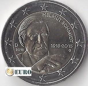 2 euro Duitsland 2018 - G Helmut Schmidt UNC