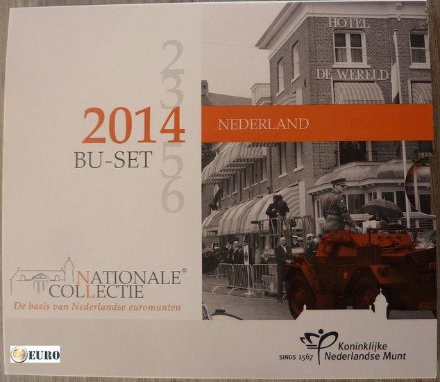 Euro set BU FDC Nederland 2014 Bevrijdingsdag