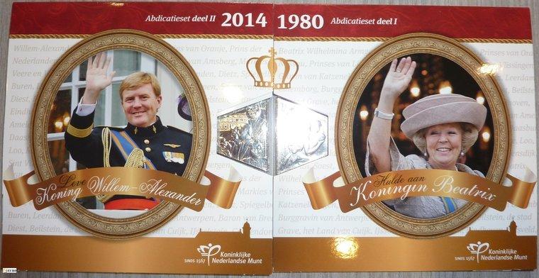 Euro set BU FDC Nederland 2013 + 2014 Abdicatie