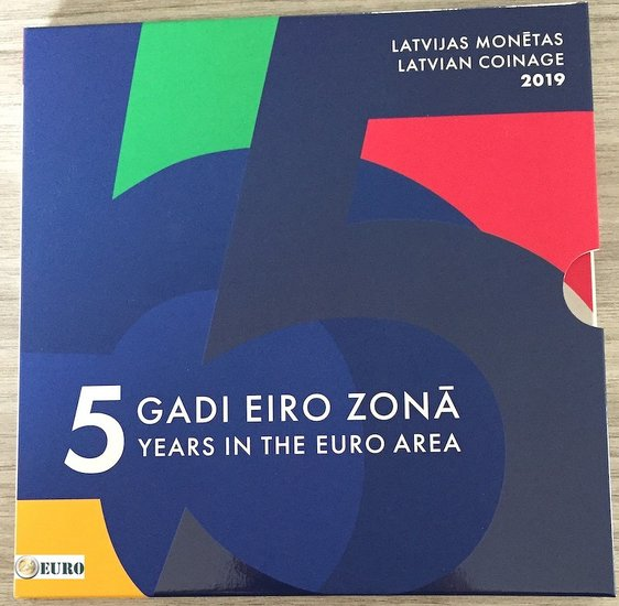 Euro set BU FDC Letland 2019