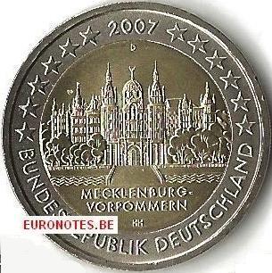 Duitsland 2007 - 2 euro D Mecklenburg-Vorpommern UNC