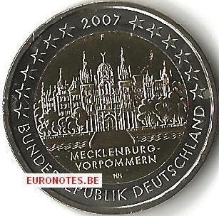 Duitsland 2007 - 2 euro F Mecklenburg-Vorpommern UNC