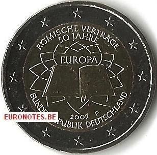 Duitsland 2007 - 2 euro F Verdrag van Rome VVR UNC