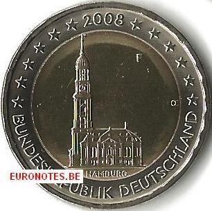 Duitsland 2008 - 2 euro F Hamburg UNC