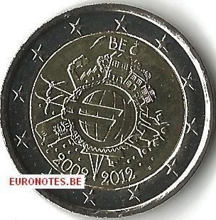 2 euro Belgie 2012 - 10 jaar euro UNC
