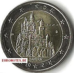 Duitsland 2012 - 2 euro D Beieren UNC