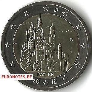 Duitsland 2012 - 2 euro G Beieren UNC