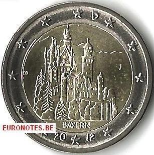 Duitsland 2012 - 2 euro J Beieren UNC