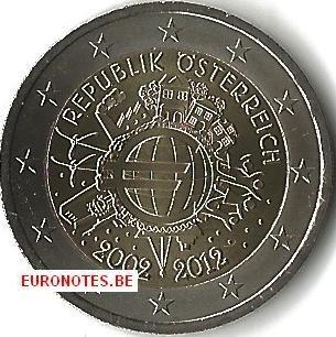 Oostenrijk 2012 - 2 euro 10 jaar euro UNC