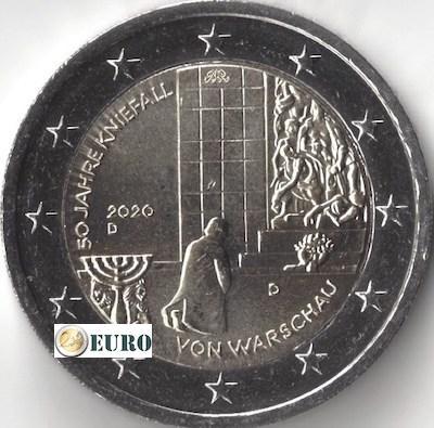 2 euro Duitsland 2020 - D Knieval Warschau UNC