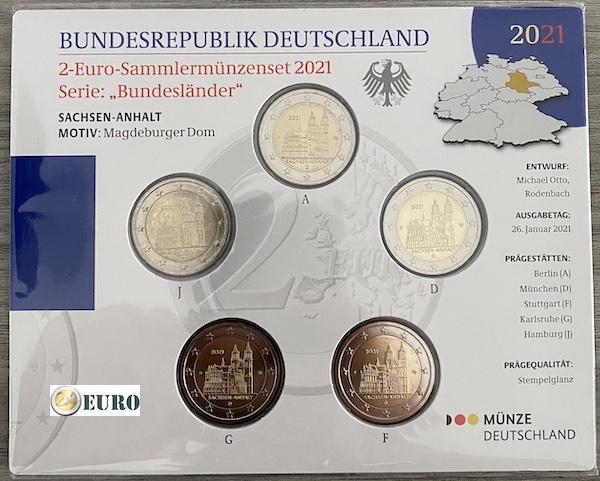 2 euro Duitsland 2021 - ADFGJ Sachsen-Anhalt BU FDC