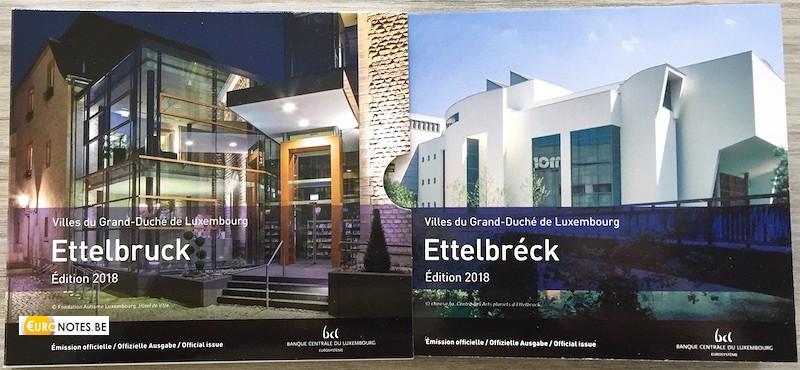 Luxemburg 2018 - euro set BU FDC Ettelbruck