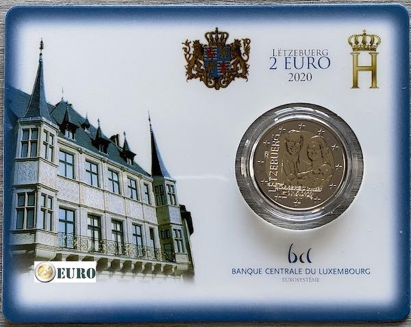 2 euro Luxemburg 2020 - Geboorte Karel van Luxemburg BU FDC Coincard