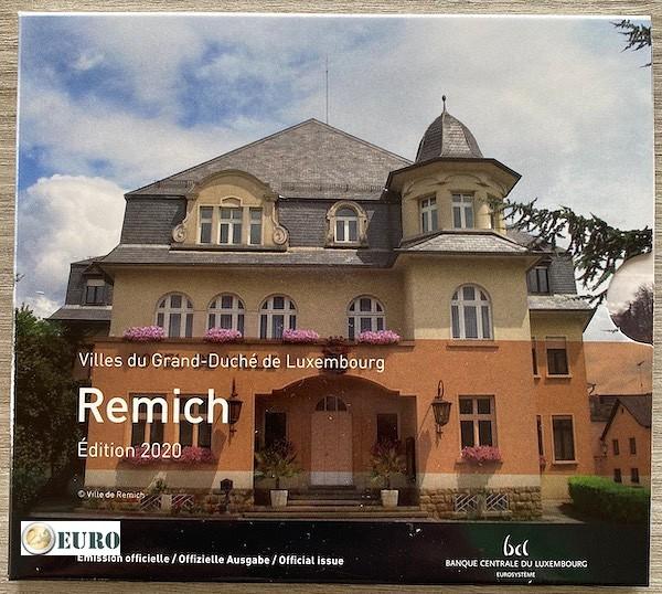 Euro set BU FDC Luxemburg 2020 Remich + 2 euro Henrik
