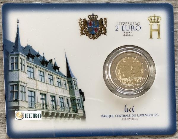 2 euro Luxemburg 2021 - 100 jaar geboorte Jean BU FDC Coincard