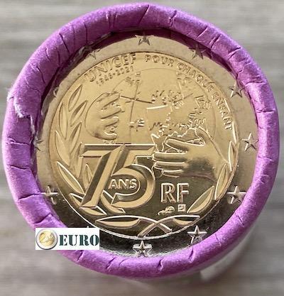 Rol 2 euro Frankrijk 2021 - 75 jaar UNICEF
