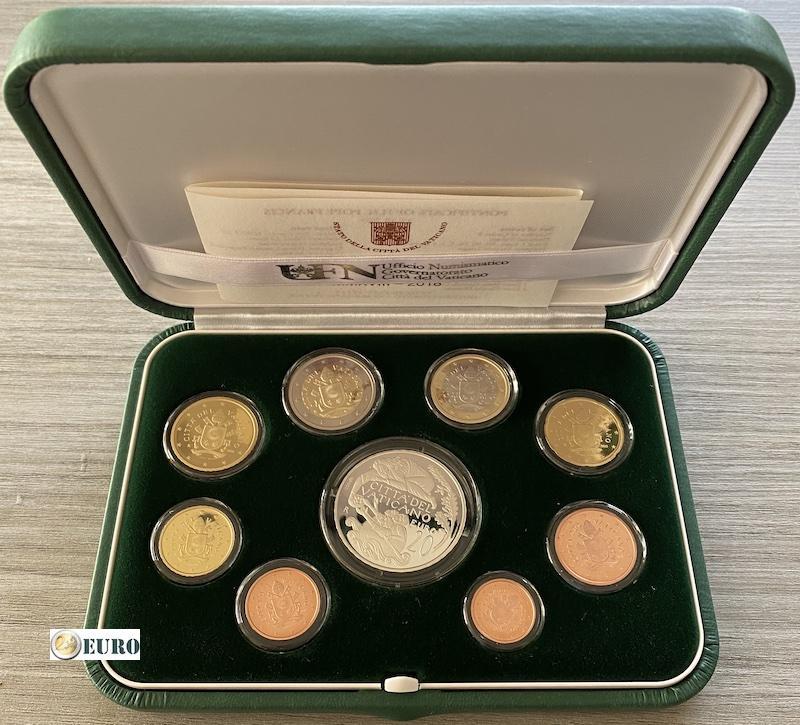 Euro set BE Proof Vaticaan 2018 + 20 euro zilver