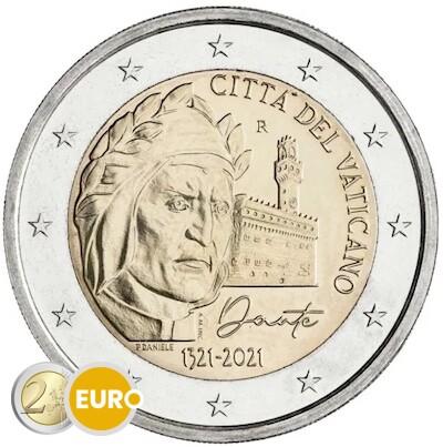2 euro Vaticaan 2021 - Dante Alighieri BU FDC