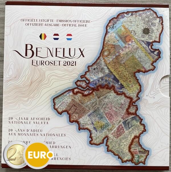 Euro set BU FDC Benelux 2021 Oude valuta