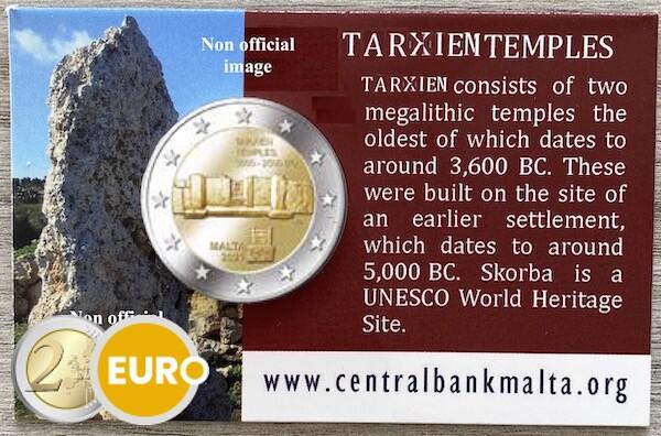 2 euro Malta 2021 - Tempel Tarxien BU FDC Coincard MdP muntteken